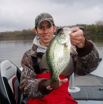Mississippi river pool 2 crappie report 10 25 09 bauer for Crappie fishing in mississippi